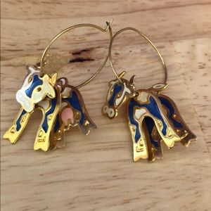 Cow hoop earrings